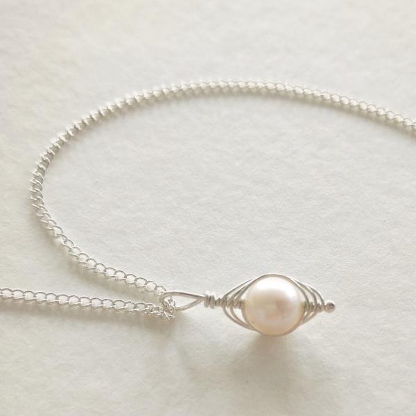 Silver Vertical Pea Pod Necklace