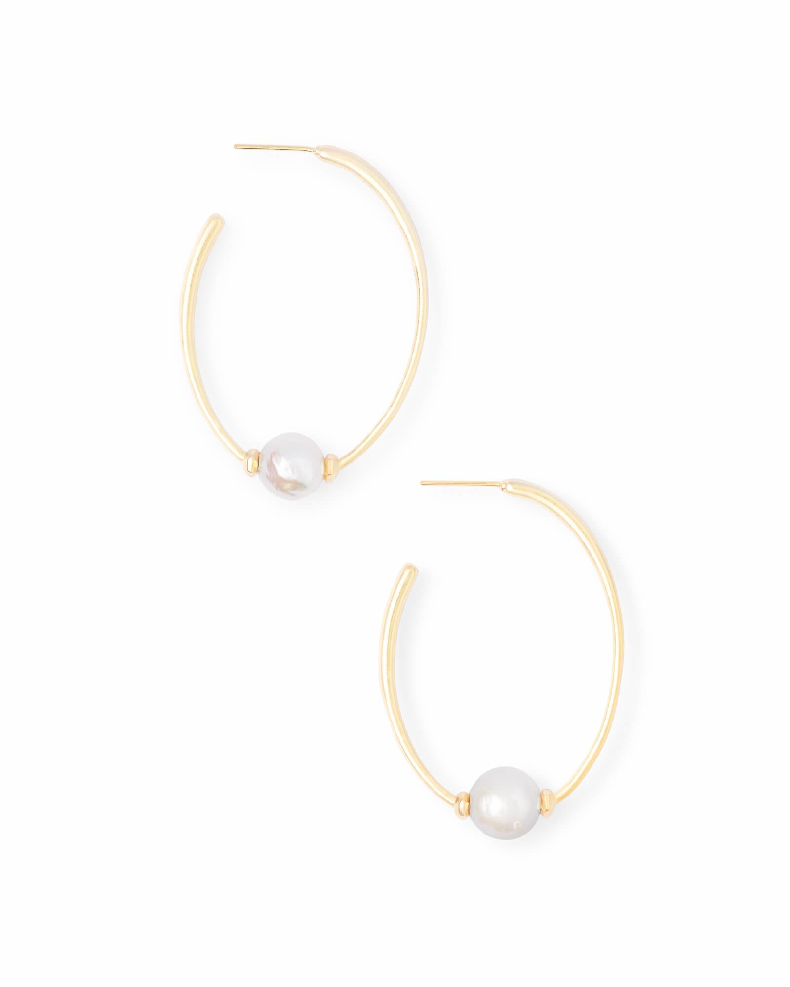 Regina Earring Gold Baroque Pearl