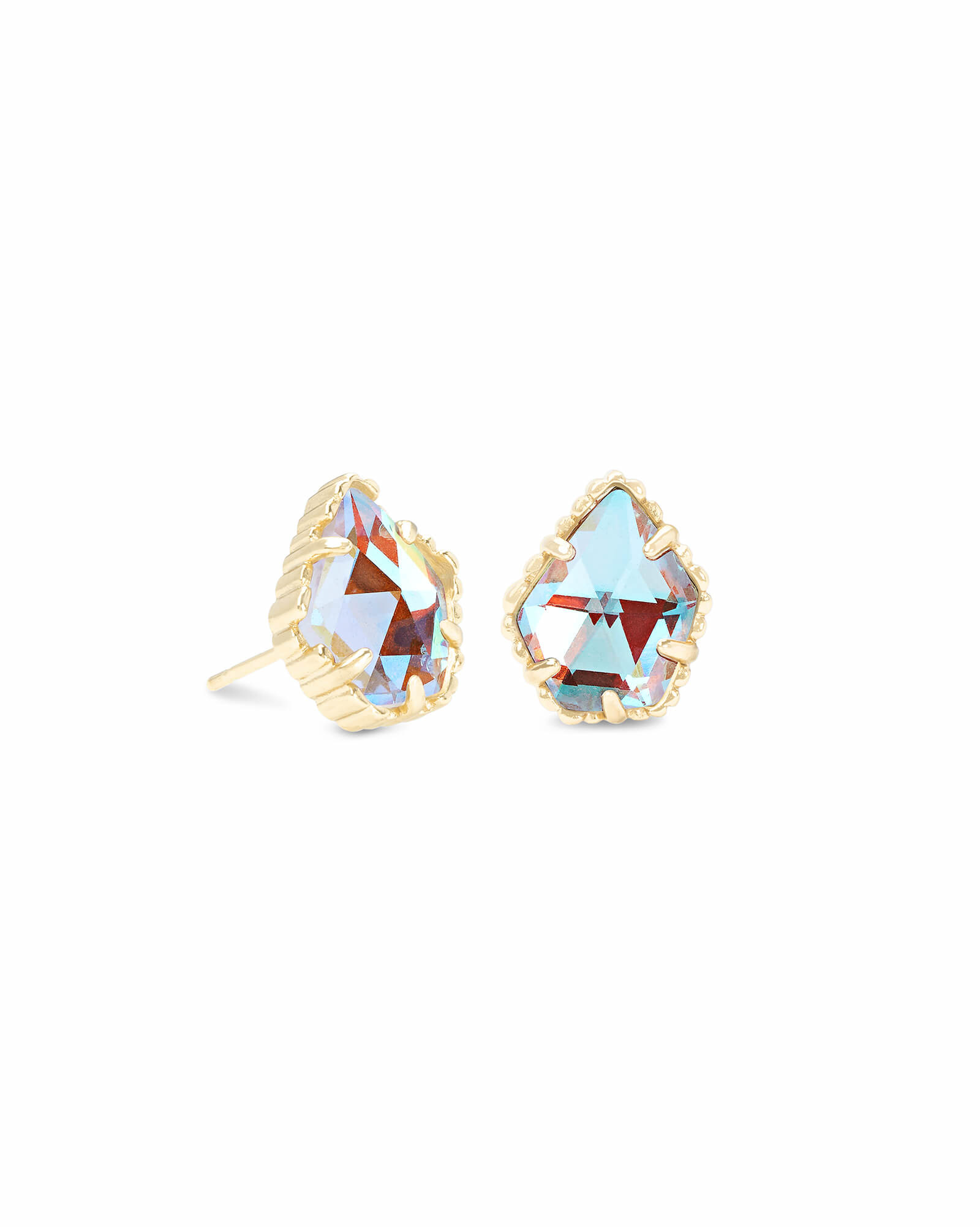 Tessa Earring in Gold DIchroic Glass