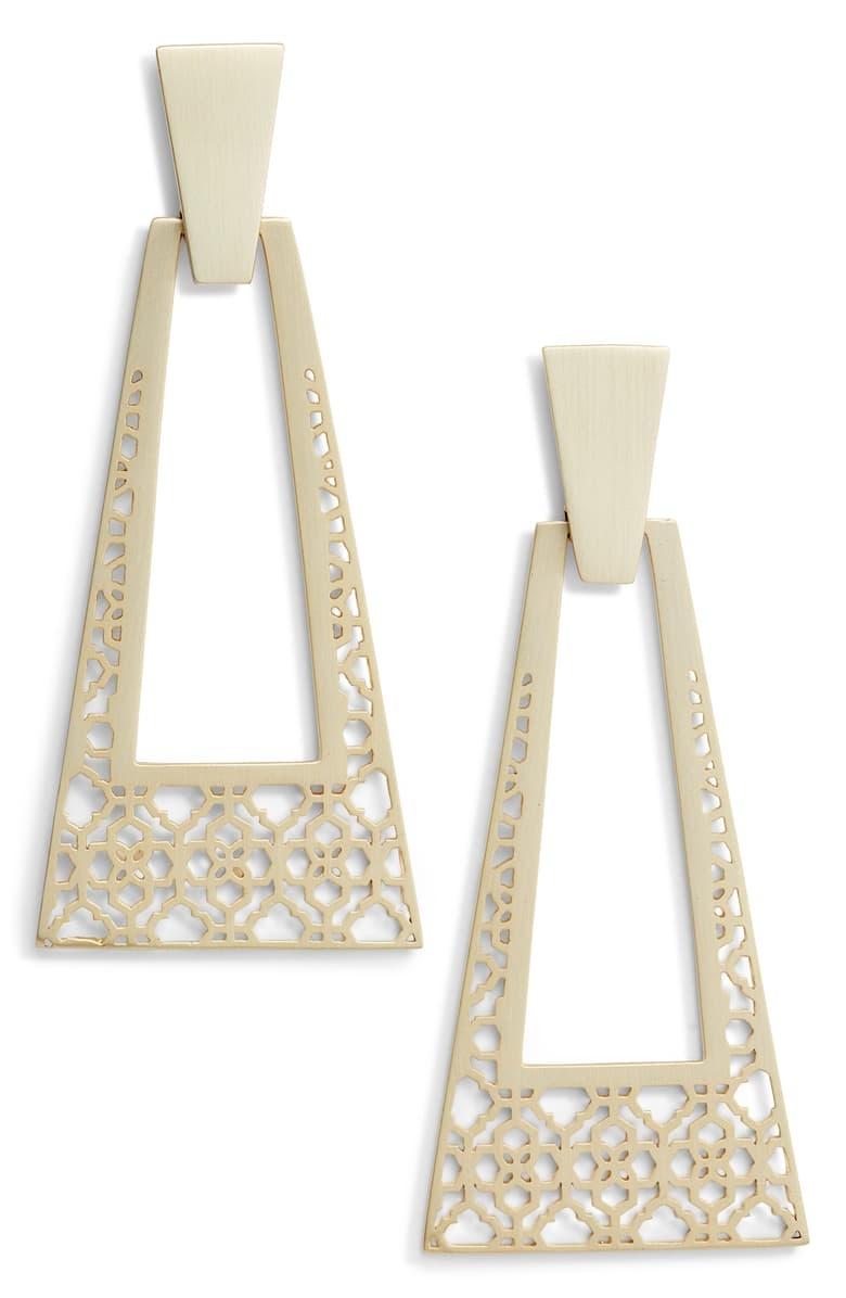Kase Large Statement Earrings in Gold