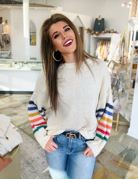 Just a Touch of Color Sweater