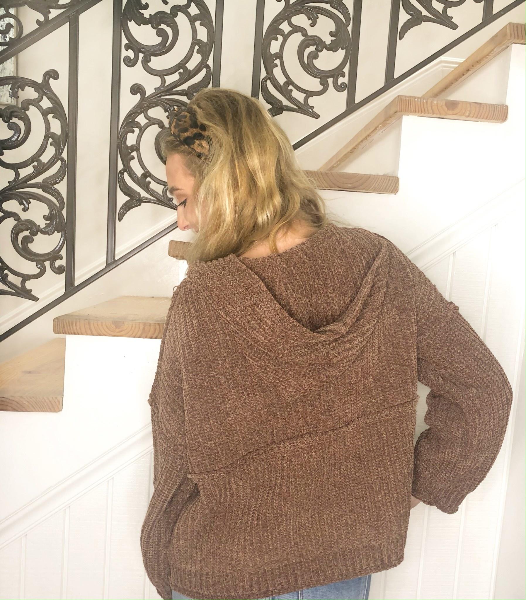 Chenille Hoodie Sweater