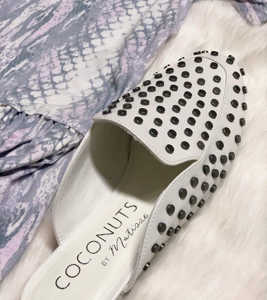 Slip On By Studded White Sandals