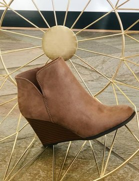 Must Be Magic Taupe Wedges