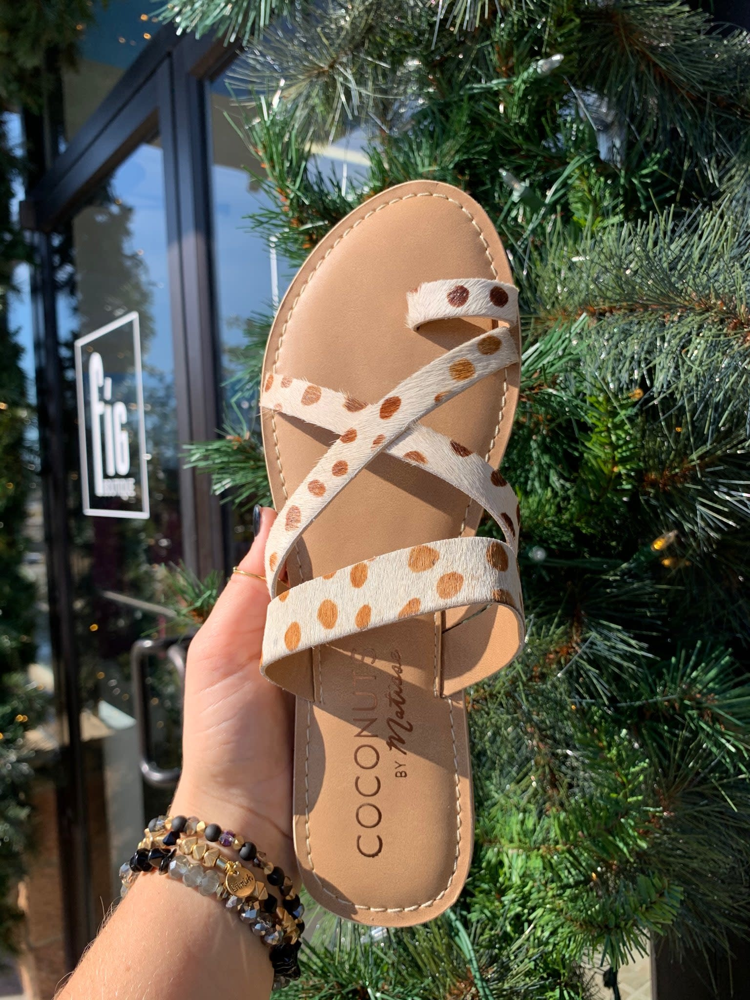 Catalina White Brown Sandal