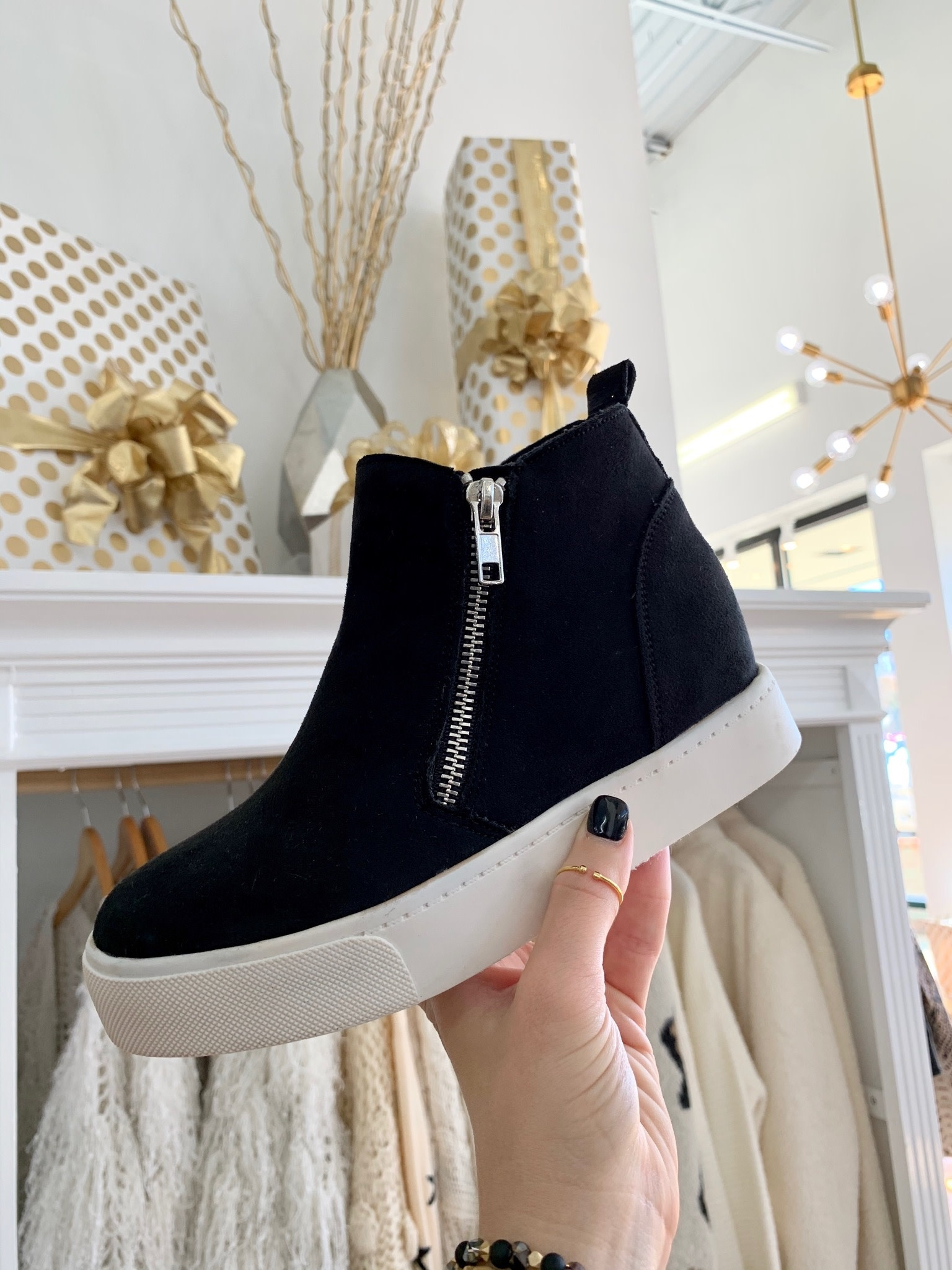 High Top Wedge Sneakers