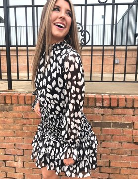 Leopard Woven Dress