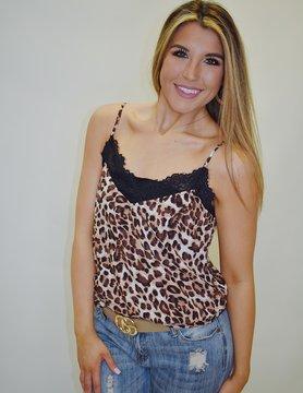 Leopard Lace Cami