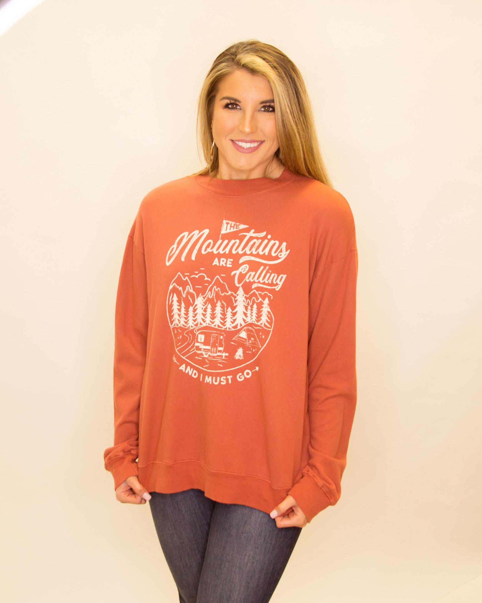 Vintage Garment Washed Graphic Oversized Sweatshirt