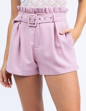Smocked Waist Shorts w/ Belt