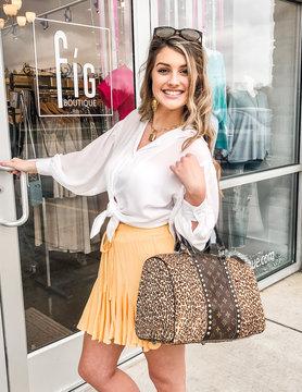 Ruffle Pleat Mini Skirt