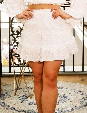 Elastic High Waist Tiered Flowy Skirt