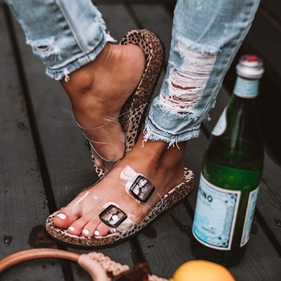 Leopard Clear Sandal