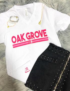 Hot Pink Oak Grove V Neck