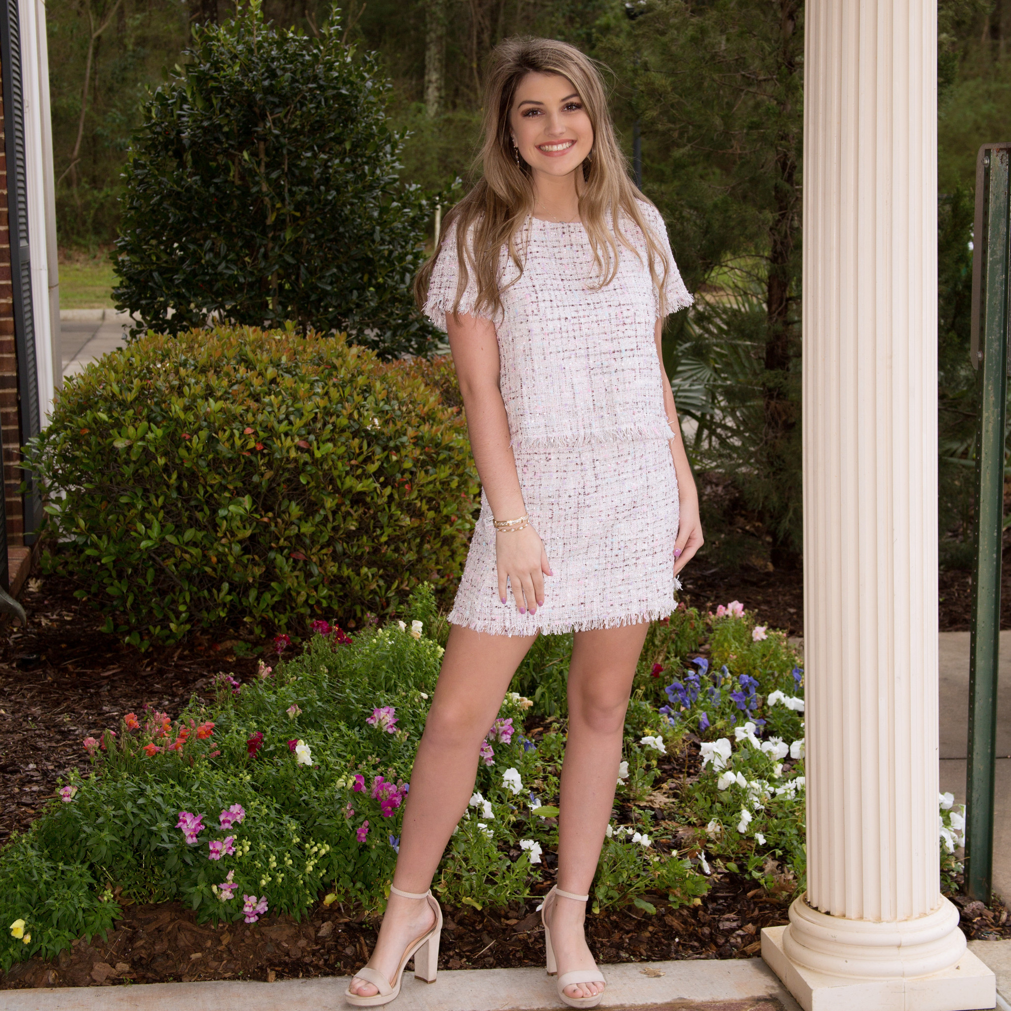 Tweed Top and Mini Skirt Set