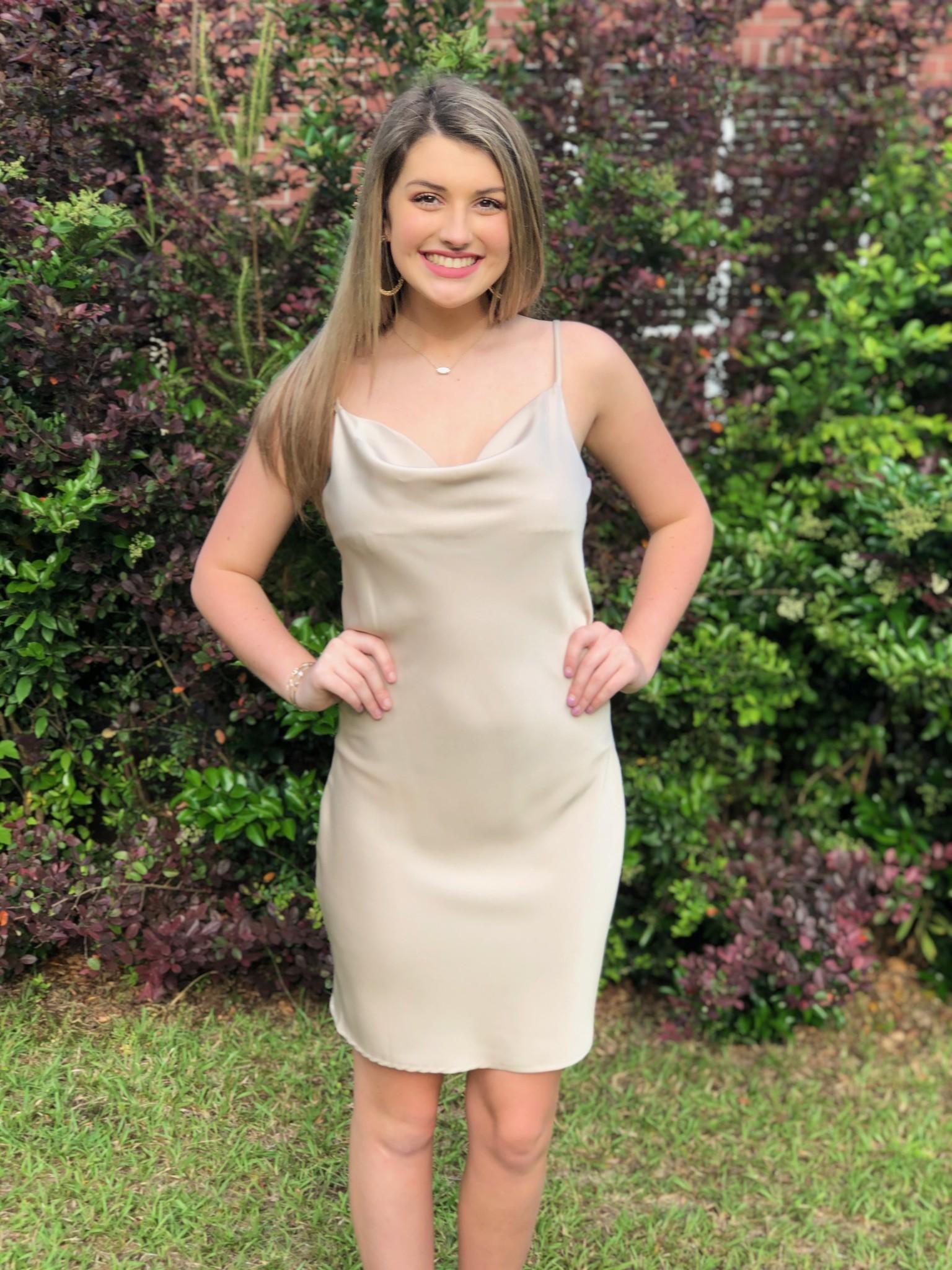 Cowl Neck Mini Dress