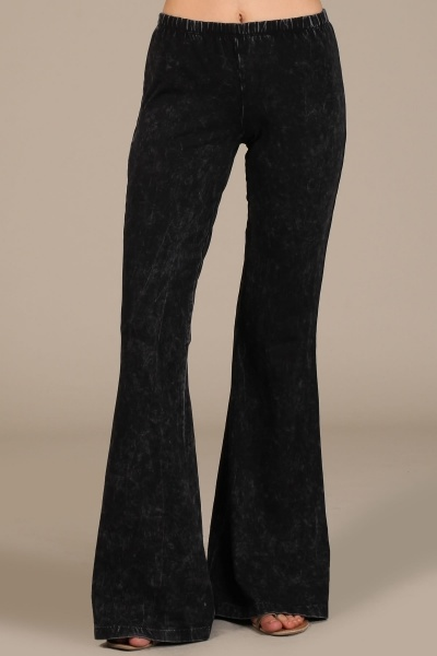 Mineral Wash Bell Bottom Pant
