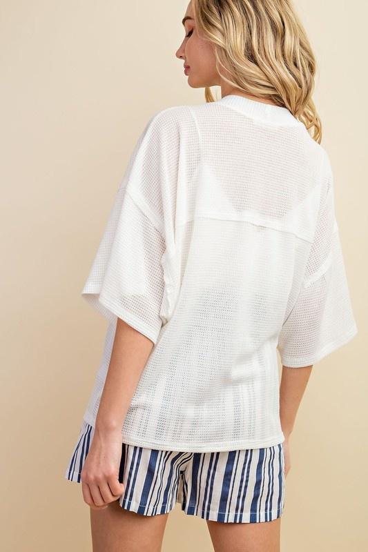 Reverse Stitch Kimono Cardigan