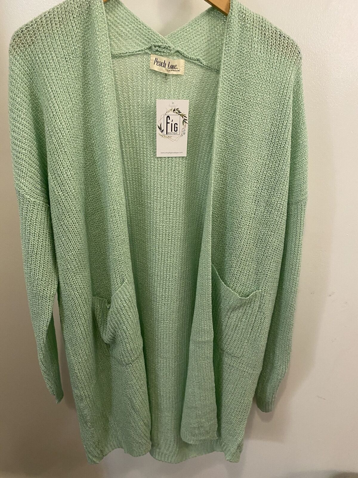 LS Knit Jacket w/ Pocket Detail