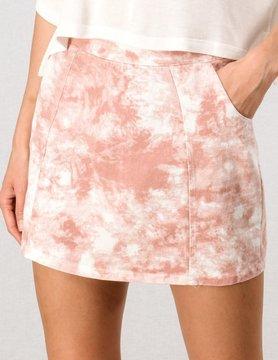 Tie Dyed Mini Skirt w/ Zipper Closure