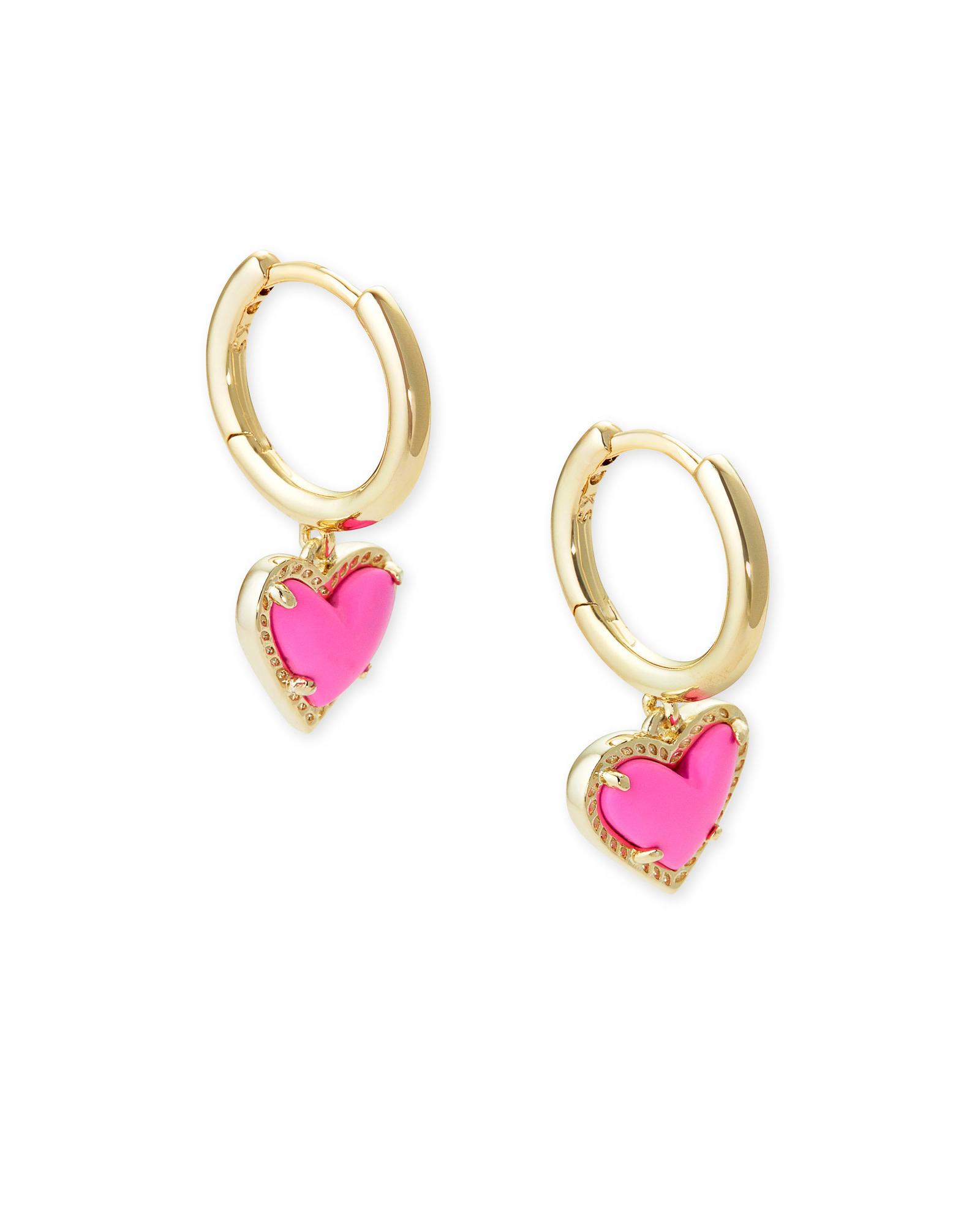 Ari Heart Huggie Earrings
