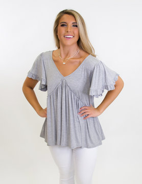 Burst Your Bubbly Bell Sleeve Blouse