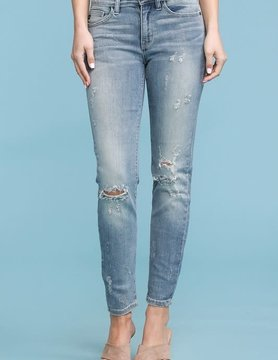 PLUS Relaxed Fit Bleach Splash Crop Jeans