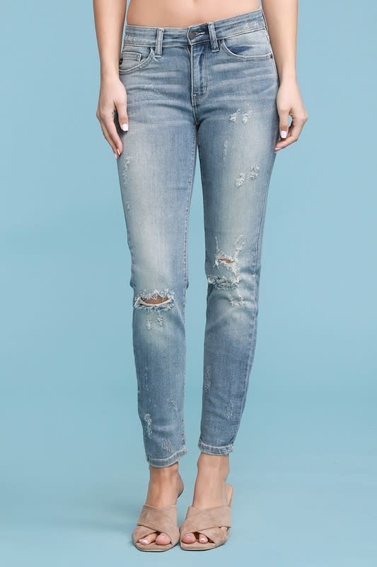 PLUS Relaxed Fit Bleach Splash Crop Jeans