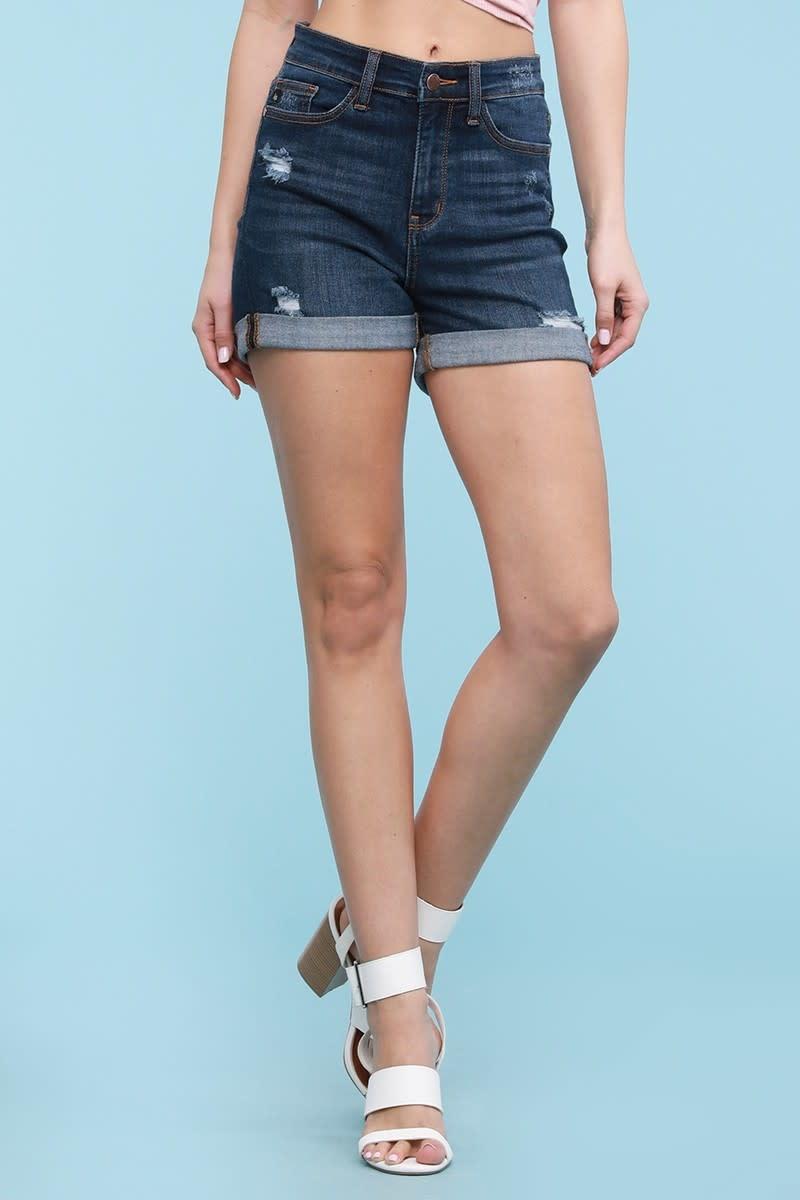 """PLUS 3"""" Inseam Cuffed High Rise Shorts"""