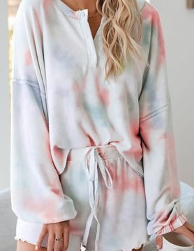 Soft Fleece Tie Dye Lounge Set