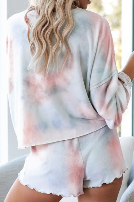Soft Fleece Tie Dye Lounge Set