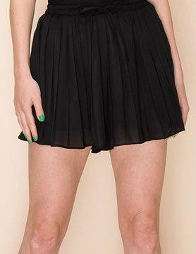Pleated Shorts w/ Waist Tie