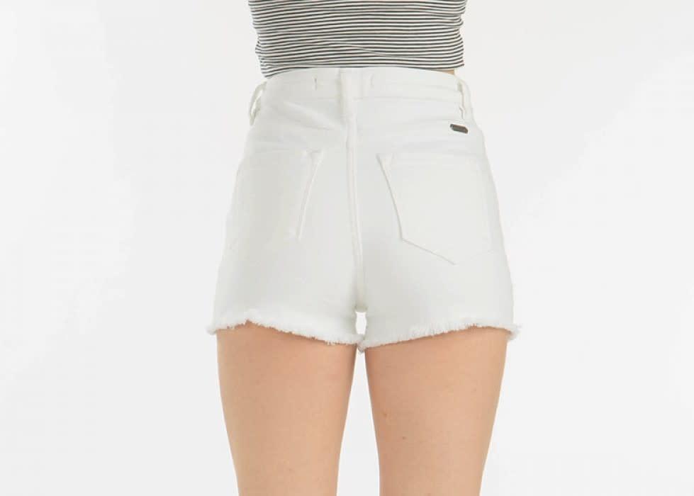 Hazel High Rise Shorts in White