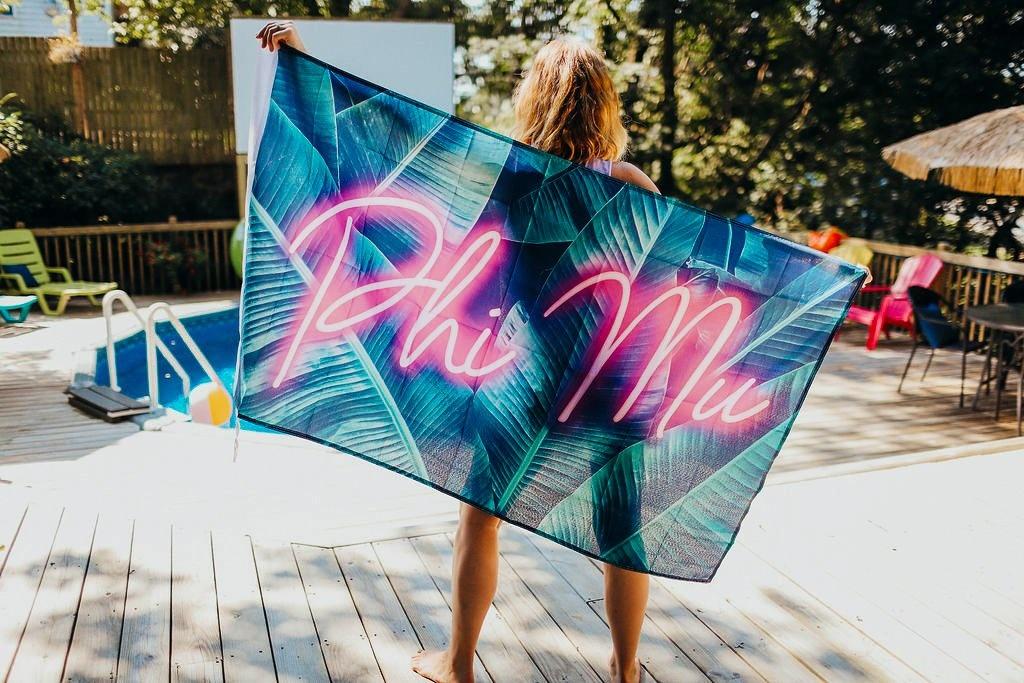 Neon Palm Flag