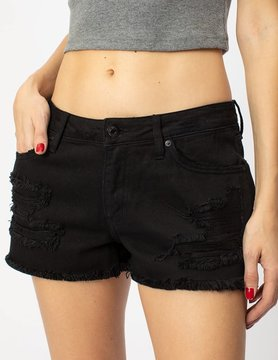 The Reagan Black Distressed Shorts