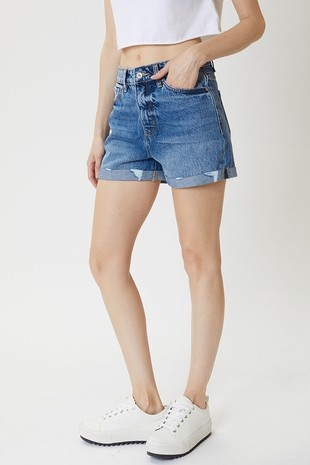 The Alyssa Cuffed Denim Shorts