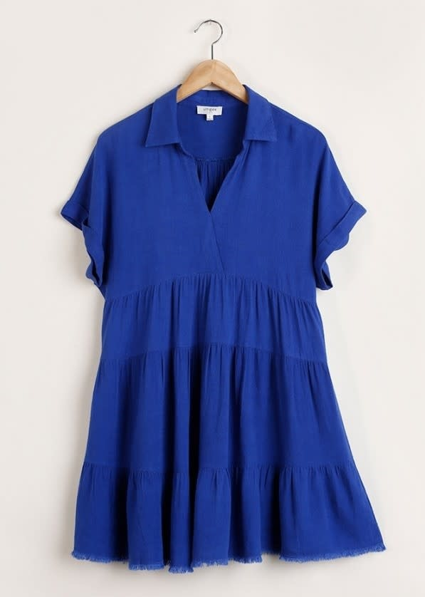 Test My Limits Collared Dress - Royal Blue
