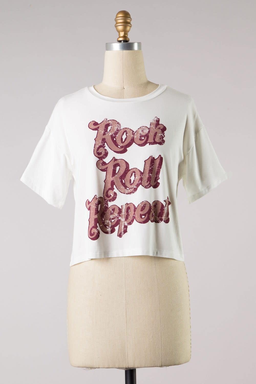 Rock Roll Repeat Tee