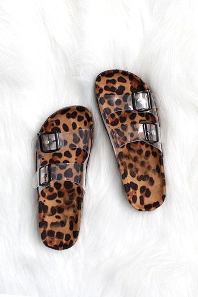 Paradise Clear Leopard Sandal