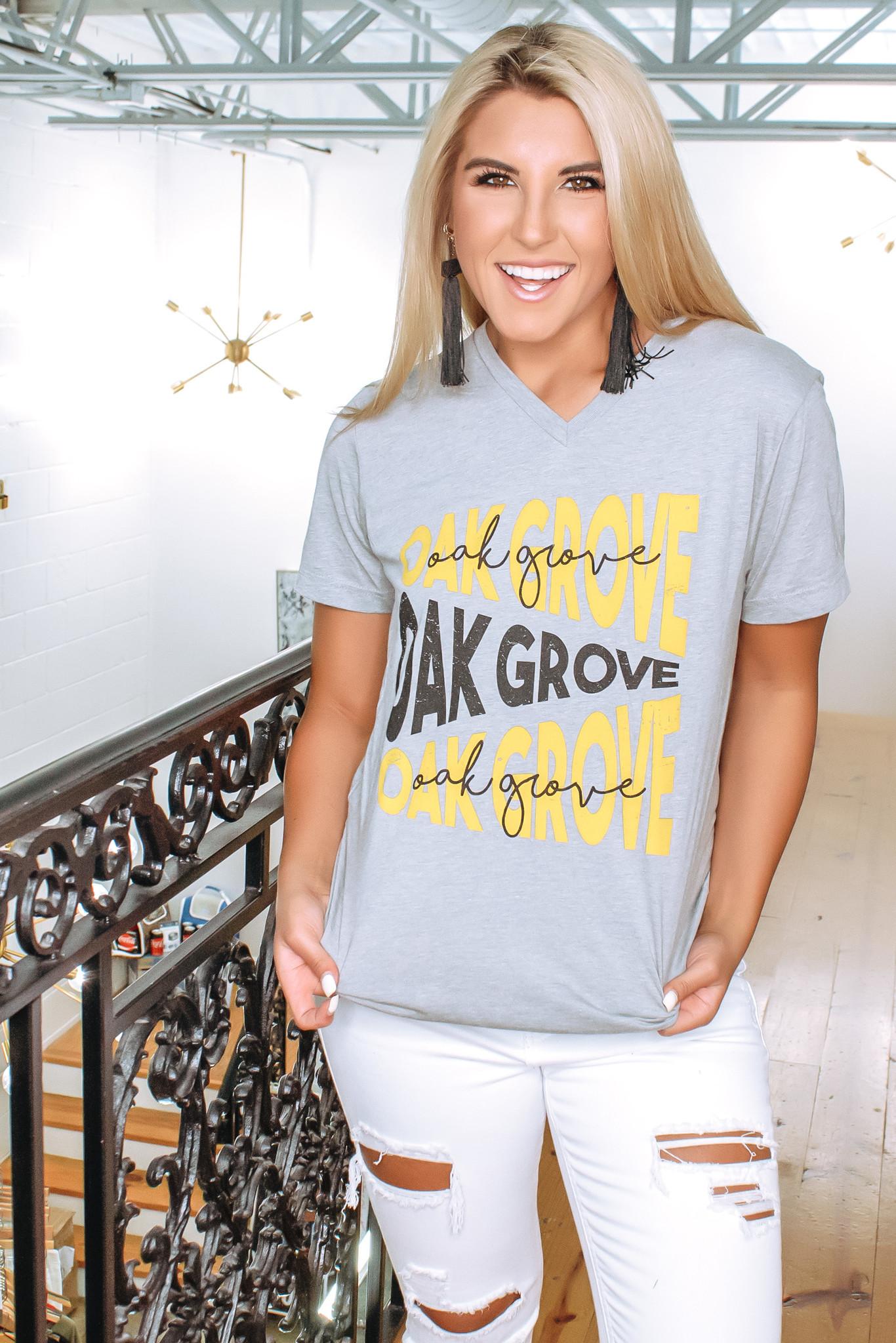 Oak Grove Tee - Heather Grey