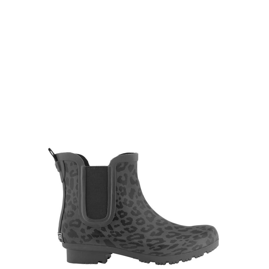 Crunch The Leaves Leopard Rain Boots