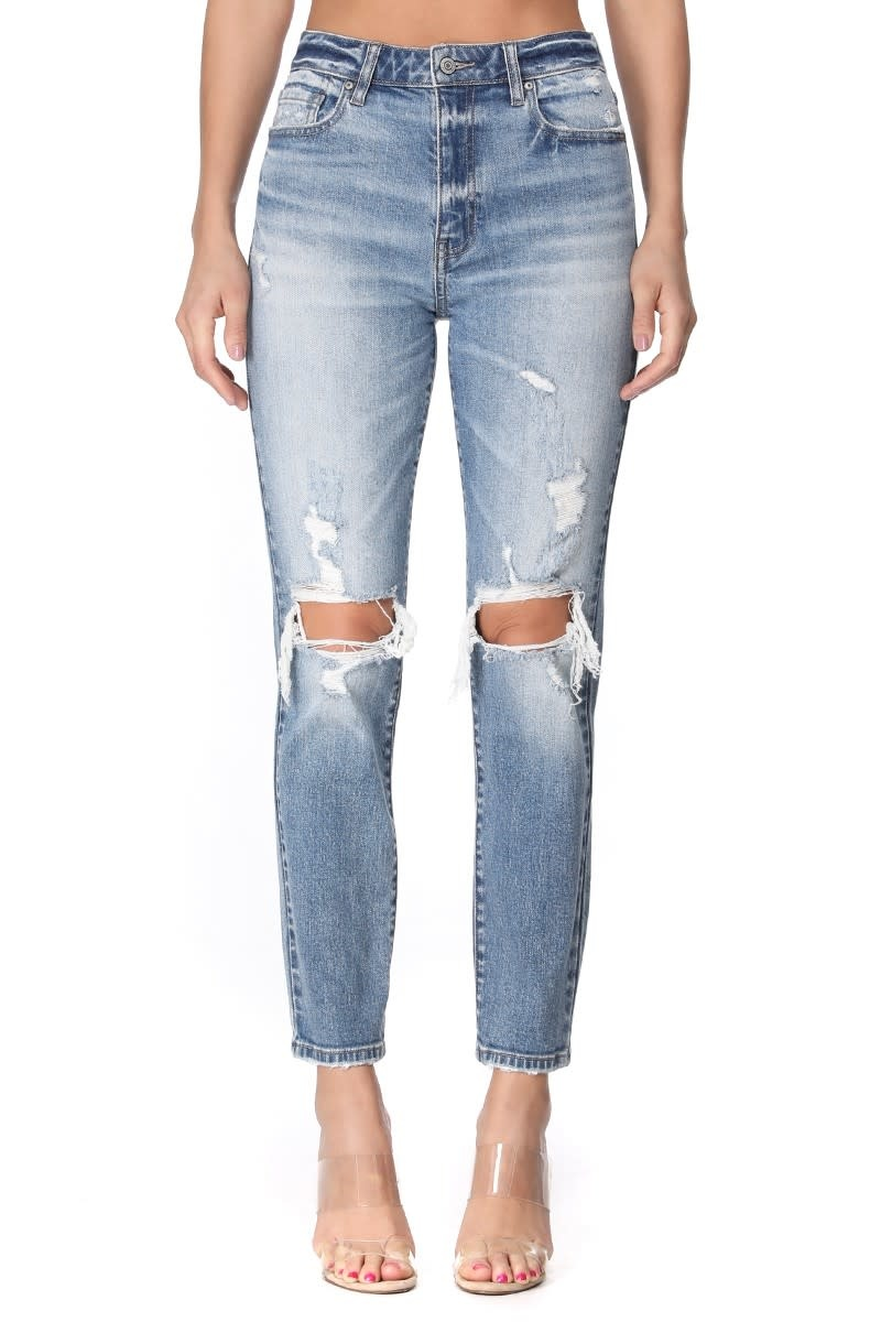 The Traci Light Wash Distressed Jeans