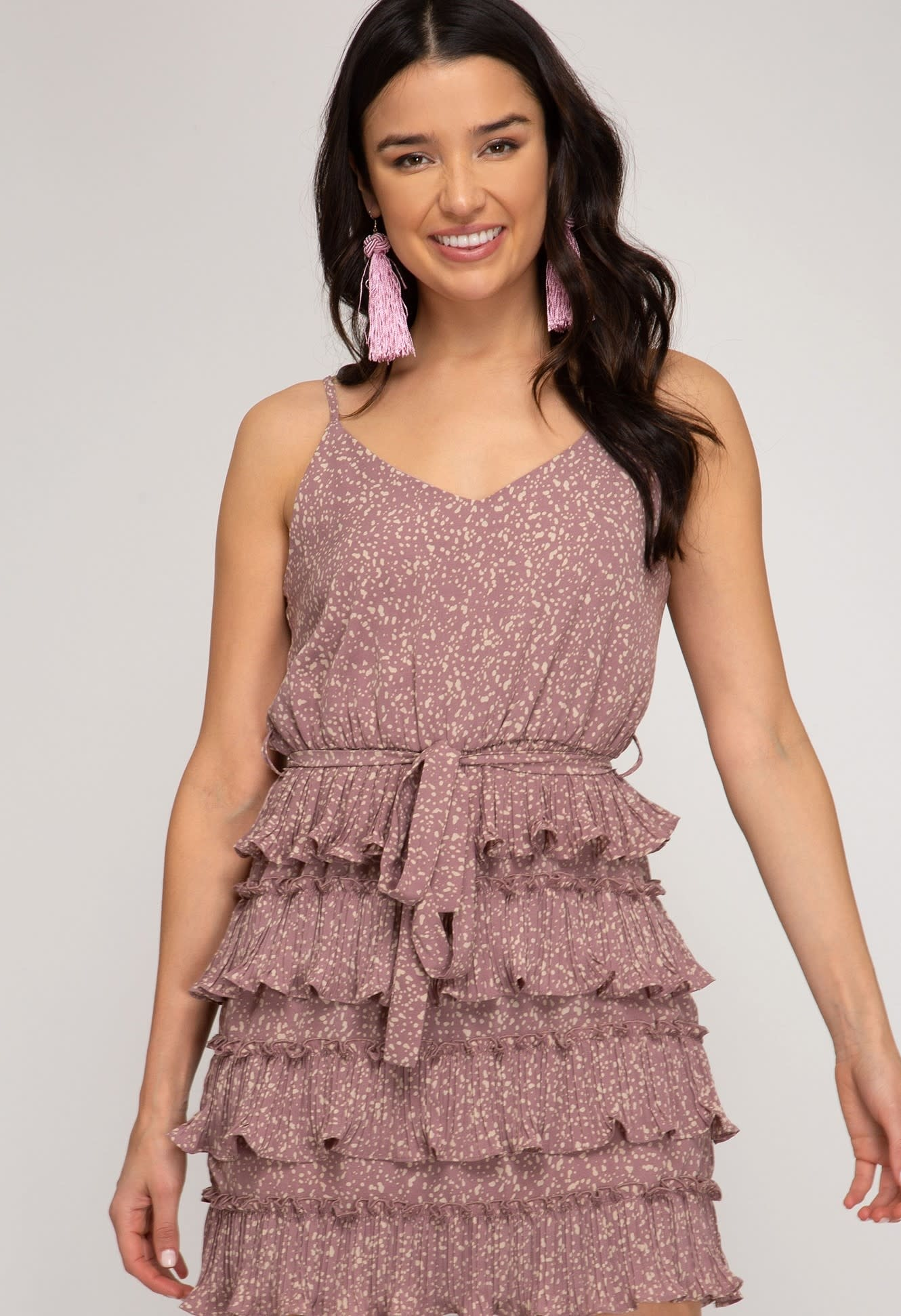 Glam Factor Sleeveless Pleated Dress