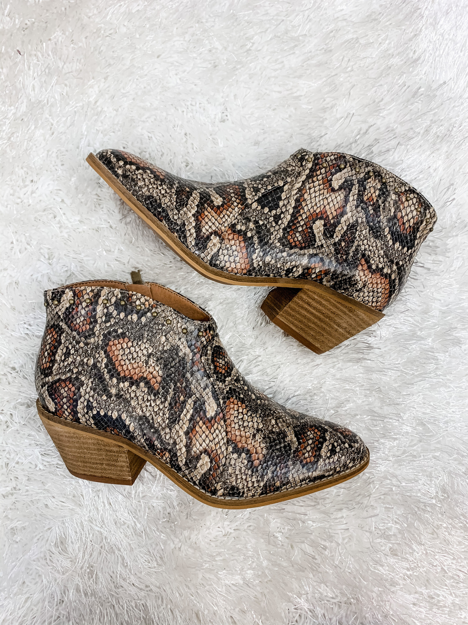 My Wild Side Snake Print Booties
