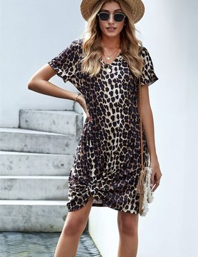 New Ambitions Leopard T-Shirt Dress