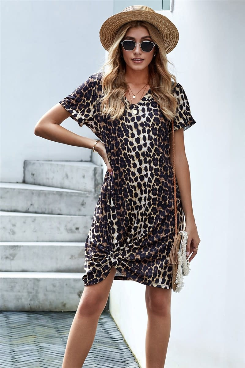 New Ambitions Leopard T-Shirt Dress