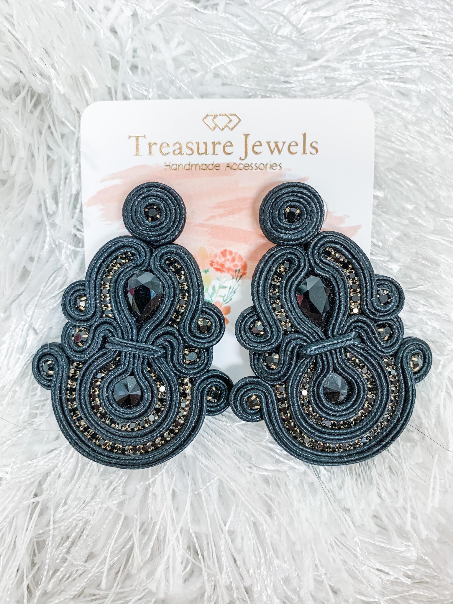 Treasure Jewels Black Frida Earrings
