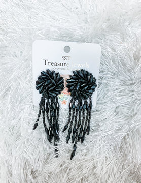 Treasure Jewels Black Avery Earrings