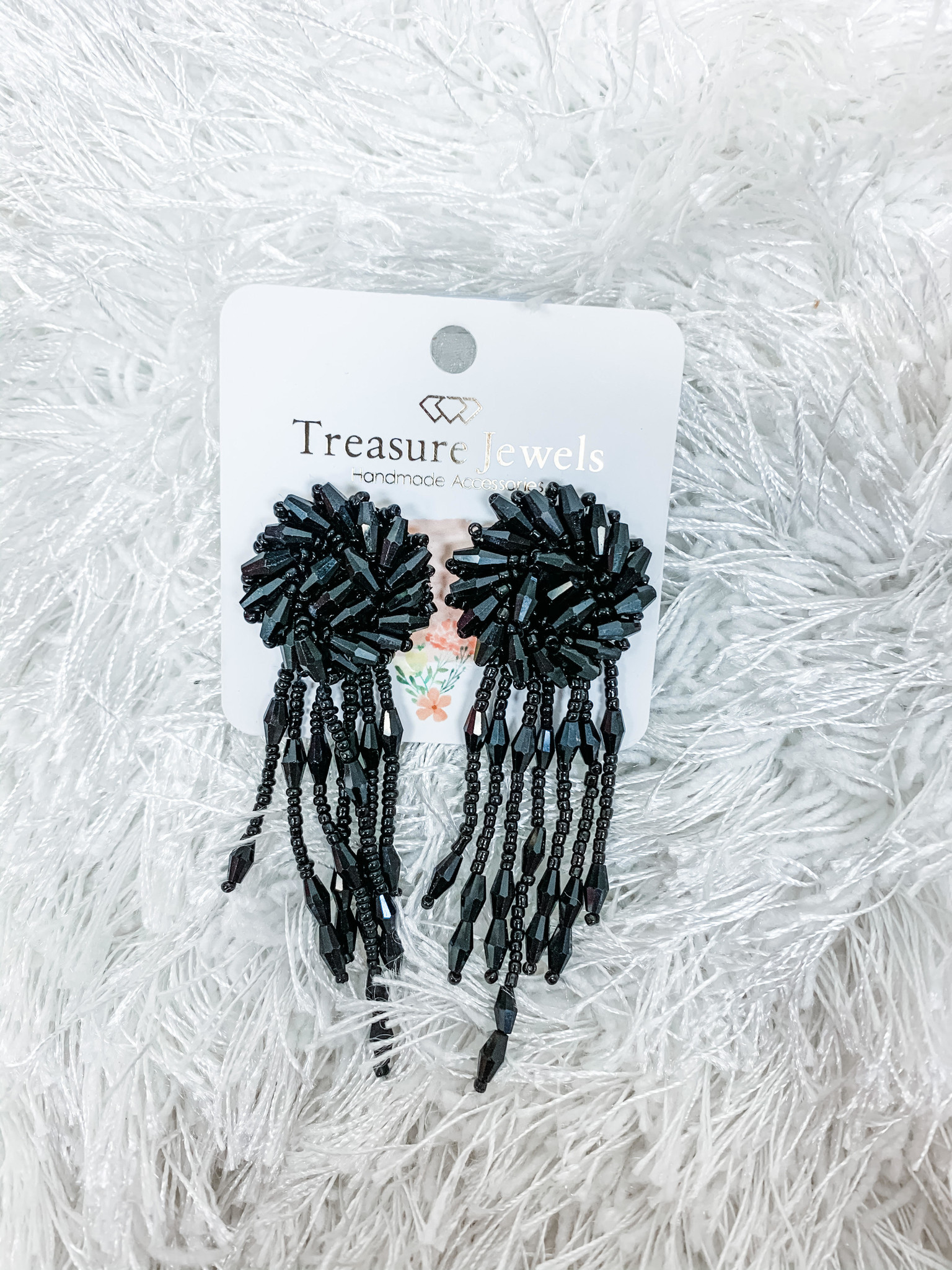 Treasure Jewels Black Avery Earrings