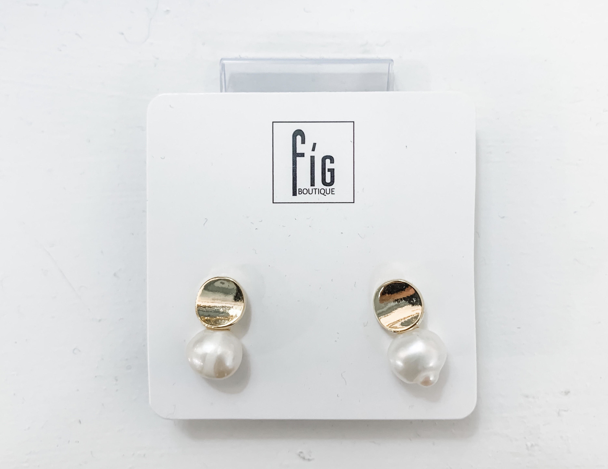 Pearl & Gold Stud Earrings
